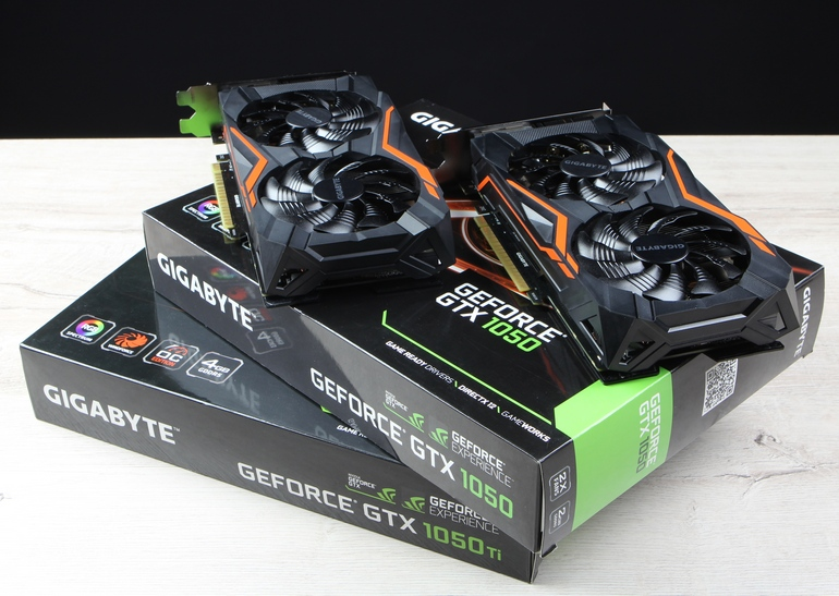 обзор <b>видеокарт GeForce GTX</b> 1050/1050 Ti от <b>GIGABYTE</b>