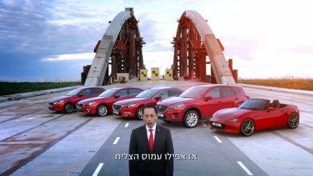 Бывший Стиг из Top Gear проехал с завязанными глазами на Mazda по недостроенному Подольско-Воскресенскому мосту в Киеве