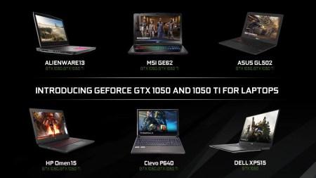 NVIDIA представила мобильные видеокарты GeForce GTX 1050 и GTX 1050 Ti с повышенными по сравнению с настольными аналогами частотами GPU