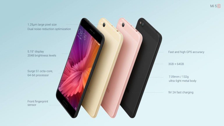 Xiaomi Mi 5C - первый смартфон компании на собственном чипсете Surge S1 предлагается по цене $220 за версию 3ГБ/64ГБ