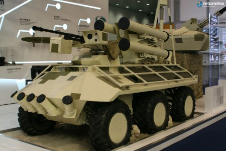 Укроборонпром представил обновленную версию беспилотного минибронетранспортера «Фантом» с высокоточным противотанковым ракетным комплексом