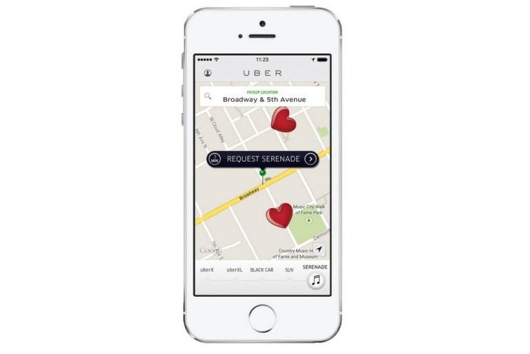 UberSERENADA: Завтра в Киеве Uber предлагает заказать серенаду и цветы своим любимым на День Святого Валентина