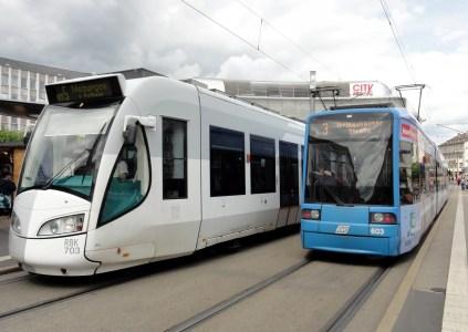 КГГА опубликовала схему маршрутов скоростного трамвая Tram-Train, который свяжет правый и левый берега Днепра через Дарницкий мост