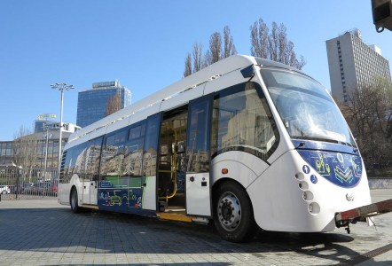 На выставке Сity Trans Ukraine 2017 в Киеве показали белорусский электробус на суперконденсаторах Е420 Vitovt Electro