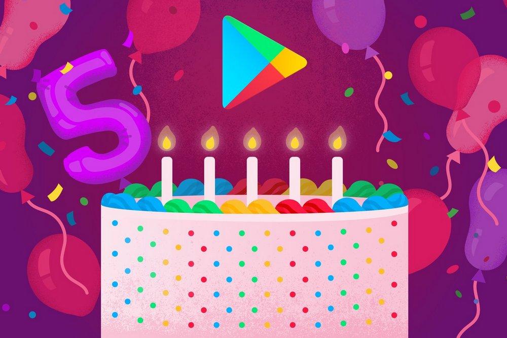 В честь пятилетия Google Play опубликованы Топ 5 самых ...