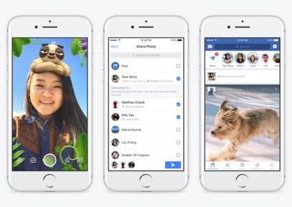 Facebook добавила в мобильное приложение камеру с фильтрами, «Истории» и Direct