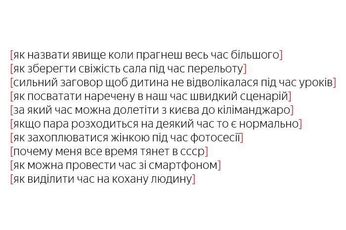 """""""Що треба робити під час революції?"""": Яндекс рассказал, что украинцы спрашивают у поисковика о времени"""