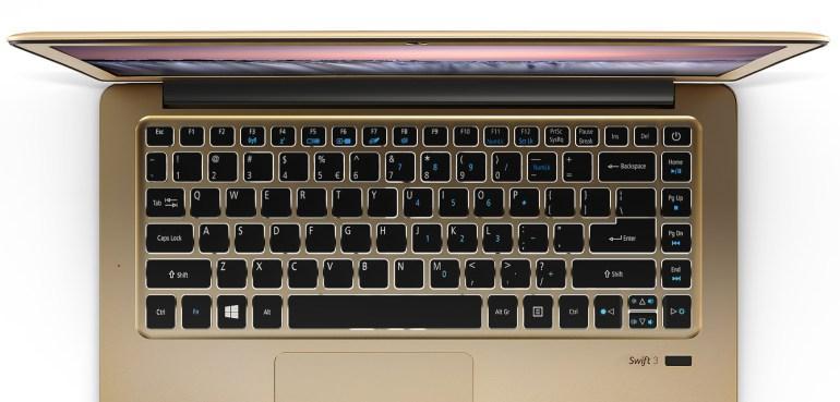 Acer представила новые модели ноутбуков Swift 1 и Swift 3, оснащенные экранами IPS разрешением Full HD