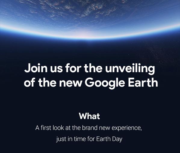 18 апреля покажут «полностью новый» сервис Google Earth