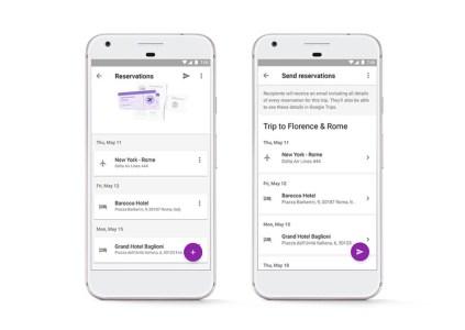 Обновлённое приложение Google Trips может автоматически загружать купленные билеты из Gmail и делиться сведениями о поездках
