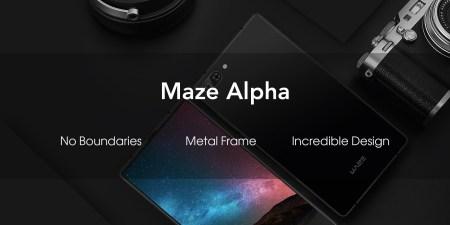 В июне представят безрамочный смартфон Maze Alpha