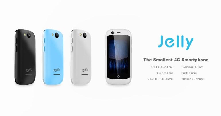 На Kickstarter появился Jelly - самый маленький 4G-смартфон в мире с диагональю экрана 2,45 дюйма и стоимостью от $59