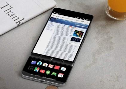 Рендерные изображения смартфона LG V30 демонстрируют наличие дополнительного выдвижного дисплея