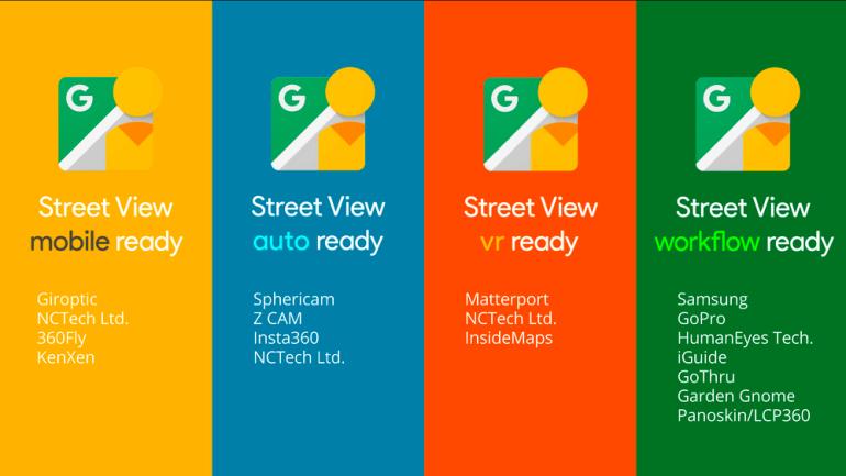 Google запускает программу сертификации 360-градусных камер для работы с сервисом Street View, 20 моделей выйдут уже в этом году
