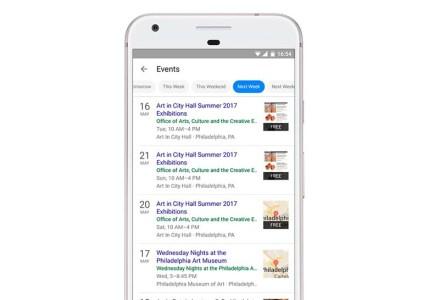 Google добавила местные мероприятия в результаты поиска для мобильных устройств