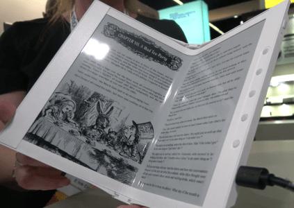 E Ink показал готовый к производству сгибаемый 10,2-дюймовый экран E Ink Carta Mobius [видео]