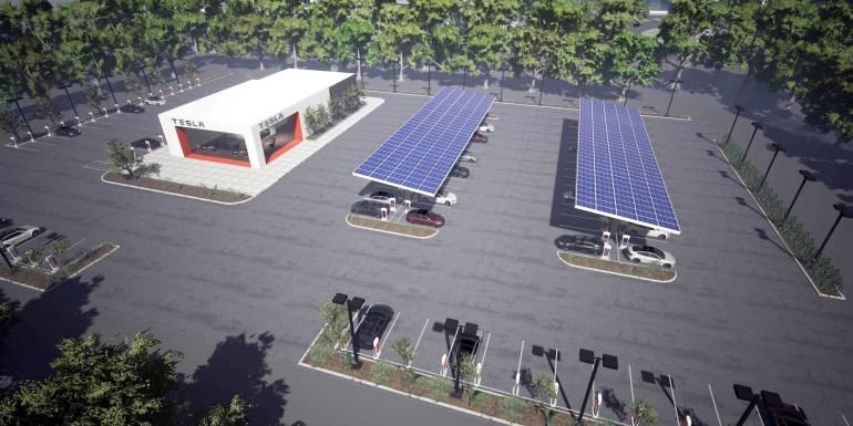 """Илон Маск: Мы отключим почти все зарядные станции Supercharger от электрических сетей и переведем их на схему """"солнечные панели + аккумуляторы"""""""