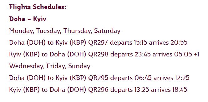 Qatar Airways: Ежедневные перелеты по маршруту Доха - Киев стартуют уже 28 августа 2017 года