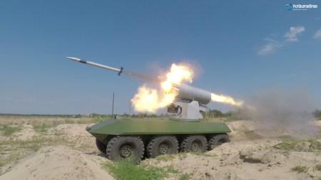 «Укроборонпром» испытал обновленный беспилотный БТР «Фантом-2» с новым ракетным комплексом РС-80