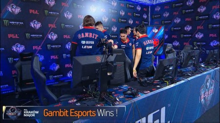 Команда Gambit Esports с украинцем во главе выиграла турнир PGL Major Krakow по CS:GO, получив $500 тыс. из общего призового фонда в $1 млн