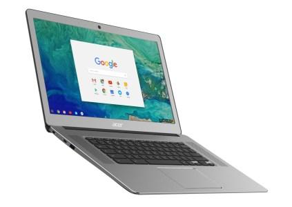 Новый хромбук Acer Chromebook 15 получил алюминиевый корпус, 15,6-дюймовый IPS-экран и сразу четыре USB-порта, включая пару Type-C
