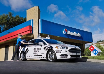 В США стартовала тестовая доставка пиццы Domino's Pizza с помощью беспилотных автомобилей Ford Fusion Hybrid