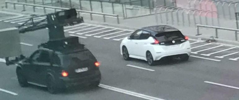 Новый электромобиль Nissan Leaf 2018 впервые застали без камуфляжа