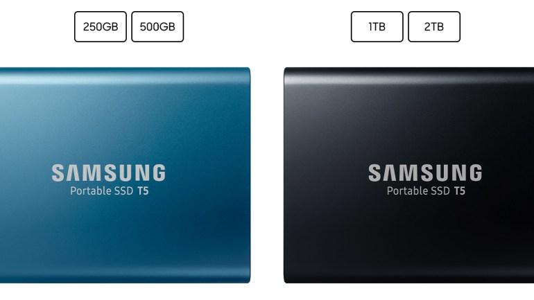 Портативные твердотельные накопители Samsung Portable SSD T5 передают данные со скоростью до 540 МБ/с и не боятся падений с высоты до 2 м