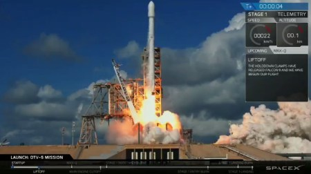 SpaceX впервые запустила засекреченный беспилотник X-37B для ВВС США и снова посадила первую ступень на наземную площадку