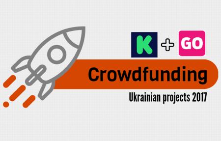 UVCA: В 2017 году украинские проекты собрали почти $2 млн на краудфандинговых площадках, достигнув целевой суммы в 83% случаев (самые успешные — Jollylook, Senstone, UGears)