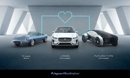 Jaguar представил концепт беспилотного электромобиля будущего FUTURE-TYPE и объявил, что с 2020 года будет выпускать только гибриды и электрические модели