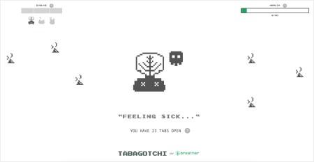Tabagotchi – расширение-игра для Chrome, где здоровье виртуального питомца зависит от количества открытых вкладок