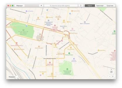 Карты Apple Maps начали показывать пробки на дорогах Украины (данные берутся у TomTom)