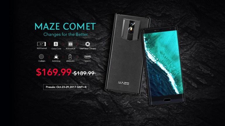 Maze Comet - смартфон с люксовым дизайном