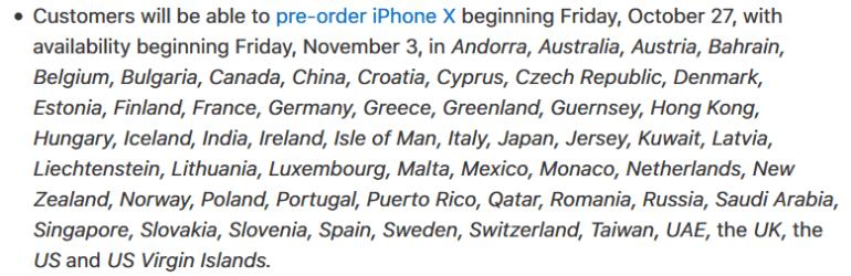 """Apple заявила, что iPhone X будет доступен в магазинах с первого дня продаж """"для всех, кто придет пораньше"""", а не только по предзаказам"""