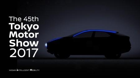 Nissan опубликовал первый видеотизер нового электрокроссовера на платформе хэтчбека Leaf 2018 и пообещал привезти его на Токийское автошоу