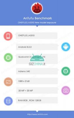 Появилось первое «живое» фото смартфона OnePlus 5T, его анонс теперь ожидается 20 ноября