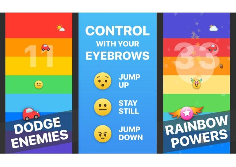 Американец разработал игру Rainbrow для iPhone X, в которую надо играть... движением бровей