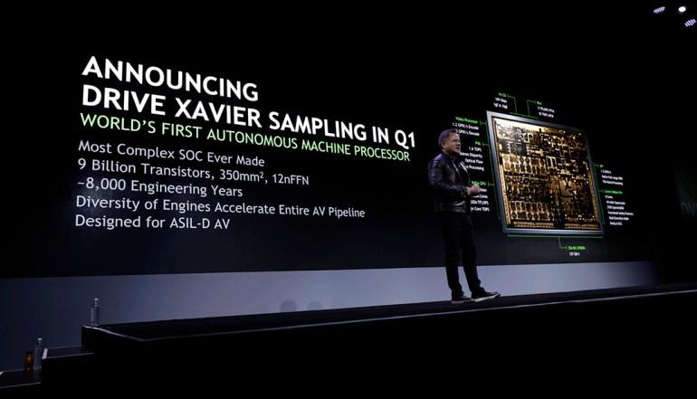 NVIDIA анонсировала высокоэффективную SOC Xavier для самоуправляемых автомобилей