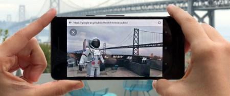 Google предлагает экспериментальную функцию по добавлению 3D объектов дополненной реальности в браузеры