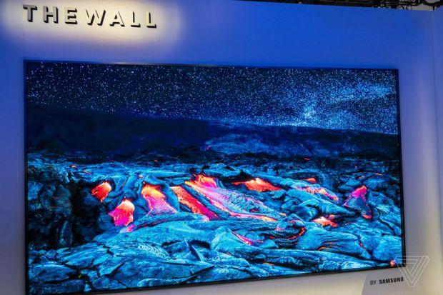Samsung показала 146-дюймовый модульный телевизор и модель с ИИ для улучшения качества