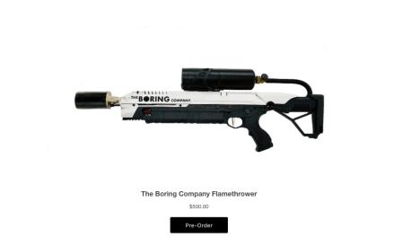 Чиновник из Калифорнии хочет запретить «скучной» компании Илона Маска продавать огнеметы, на которые уже собрано более 15 тыс. предзаказов