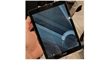 Появилось «живое» фото неизвестного планшета Acer с Chrome OS