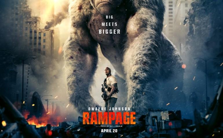 """Второй трейлер фильма-катастрофы Rampage / """"Рэмпейдж"""" про гигантских монстров с Дуэйном """"Скалой"""" Джонсоном в главной роли"""