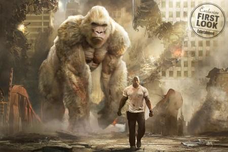 Второй трейлер фильма-катастрофы Rampage / «Рэмпейдж» про гигантских монстров с Дуэйном «Скалой» Джонсоном в главной роли