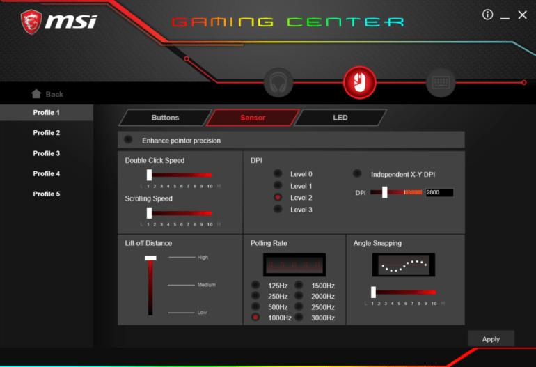 Обзор игровой мыши MSI Clutch GM60