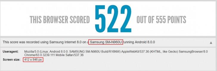 Смартфон Samsung Galaxy Note9 впервые замечен в тестовом ПО