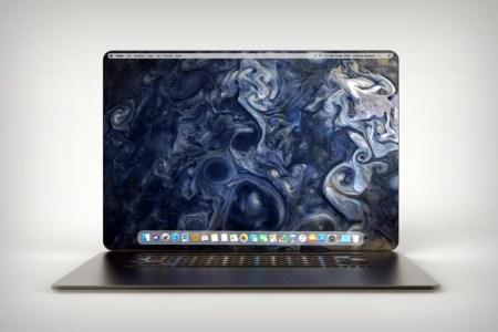 Художник создал концепт ноутбука Apple MacBook X с полностью безрамочным дисплеем и необычной клавиатурой с круглыми клавишами