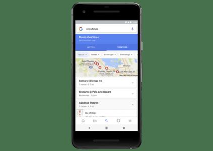 Google делает поиск фильма для просмотра на смартфонах более удобным, результаты можно фильтровать по рейтингам, кинотеатрам и сеансам