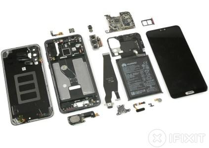 iFixit: все три модуля камеры смартфона Huawei P20 Pro оснащены OIS, но система активирована лишь в одном